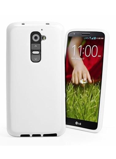Microsonic Glossy Soft Kılıf Lg G2 Beyaz Renkli